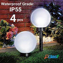 2/4pcs exterior impermeable led solar bola de jardín luz césped lámpara camino luces de tierra