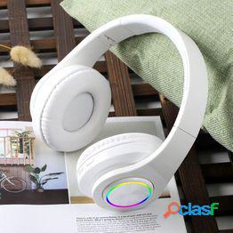 Excelentes auriculares inalámbricos plegables para pc bluetooth-compatible 5.0 estéreo heavy b práctica amplia compatibilidad