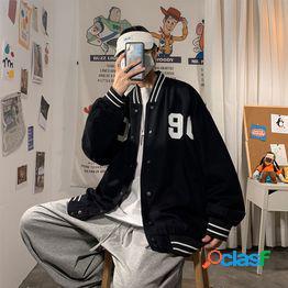 Chaqueta hombre 2021 nuevo tamaño grande estilo universitario modelos de pareja uniforme de béisbol tendencia coreana suelta chaqueta de hombre salvaje