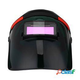 Máscara de soldadura de oscurecimiento automático máscara de soldadura solar casco de soldadura de tipo de vista amplia material de pc campana de soldadura sombrero de soldadura de arco de ar