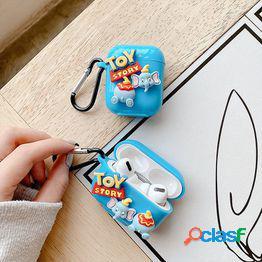 Dibujos animados toy dumbo airpods1/2 generación de cubierta protectora apple bluetooth auriculares carcasa airpodspro3 generación suave