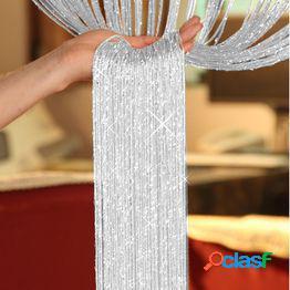 New 200cm*100cm fly screen fringe tassel curtain string sparkle curtains room divider door window decor