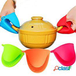 Silicona pot holder guantes antideslizantes resistentes al calor cocinar pinch grips bbq horno mitt