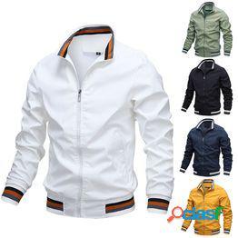 Chaqueta de hombre casual nueva de alta calidad para hombre chaqueta deportiva de color sólido ropa de hombre tops chaquetas abrigos