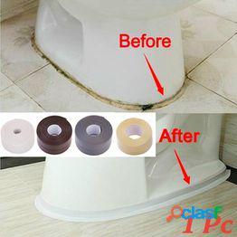 1 pc hogar material de pvc tira de fregadero cocina baño bañera de esquina cinta de sellado molde impermeable cinta de tira de sellado etiqueta de esquina cinta de sellado de tira impermeable