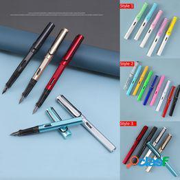 Pluma estilográfica de aleación de aluminio de 25 colores oficina de negocios pluma de tinta clásica pluma estilográfica para estudiante 0.38/0.5mm