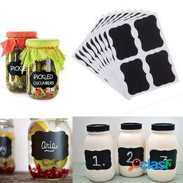 36pcs labels kitchen decor jar tags stickers chalkboard bottle