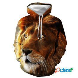 2021 nuevas sudaderas con capucha 3d lion print sudaderas con capucha tops jerseys hombres/mujeres sudaderas con capucha casual sudaderas con capucha hombres suéter