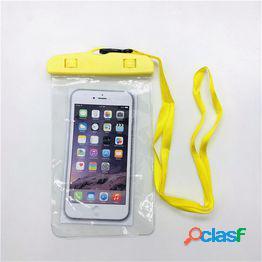 Funda para teléfono móvil fluorescente bolsa impermeable cubierta de la caja nuevo bajo el agua seco