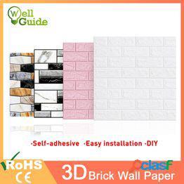 3d papel de pared ladrillo mármol papel de pared impermeable 3d decoración para dormitorio habitación para niños sala de estar papel pintado papel autoadhesivo diy