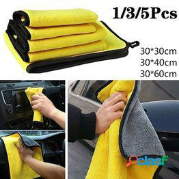1/3/5pcs premium microfiber car detailing toalla súper absorbente ultra suave sin bordes lavado de autos toalla de secado