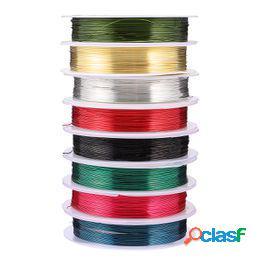 8 rollos de material de fabricación de joyas colorido juego de cables de cobre)