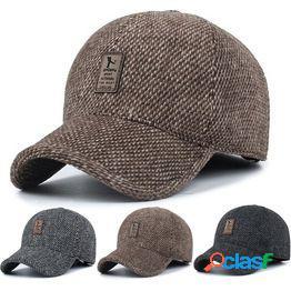 Hombres golf sombrero al aire libre orejera gorra de béisbol casual orejeras invierno cálido deporte