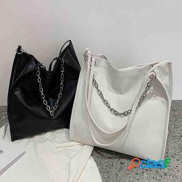 Textura de nicho bolso de clase de estudiante de gran capacidad bolso femenino 2021 nueva marea moda casual bolso de hombro de cadena