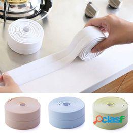 Hogar baño ducha fregadero baño sellado cinta cinta blanco autoadhesivo impermeable etiqueta de la pared para baño cocina