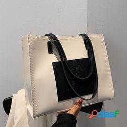 Textura popular wild retro student bolso de clase superior femenino 2021 nueva versión coreana de la marea ins portátil hombro bolso grande