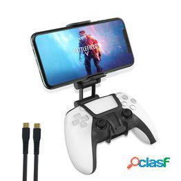 Controller phone clip gaming holder mount para ps5 game controller ajustable