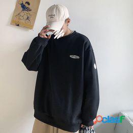 Hermano gordo suéter hombres's primavera gordo camisa de moda coreano casual ropa de gran tamaño pareja salvaje suelta ropa de hombre