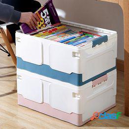 Caja de almacenamiento plegable dormitorio estudiante aula de secundaria con libros cargado libro caja de acabado caja de libros caja de almacenamiento de libros