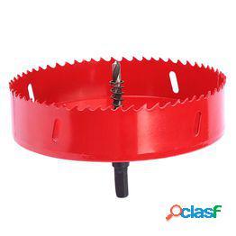 1pc metal madera agujero sierras abridor broca carpintería diy madera cortador broca metal agujero abrelatas para carpintería (150 mmm rojo)
