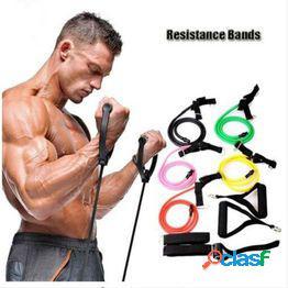 Bandas de resistencia de la aptitud cuerda de resistencia tubos de ejercicios bandas de ejercicios elásticos para yoga entrenamiento de pilates pierde peso obtener músculo