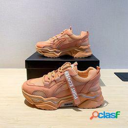 Zapatos casuales para papá zapatos deportivos para mujer zapatos deportivos blancos de verano cesta femme zapatos vulcanizados ultraligeros zapatos deportivos para tenis para mujeres zapatos