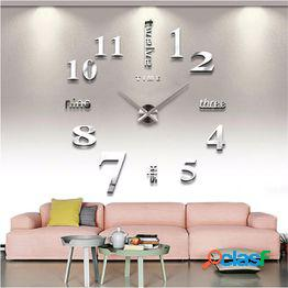 3d reloj de pared espejo pegatinas de pared creativo diy relojes de pared extraíble art decal sticker decoración para el hogar sala de estar aguja de cuarzo caliente
