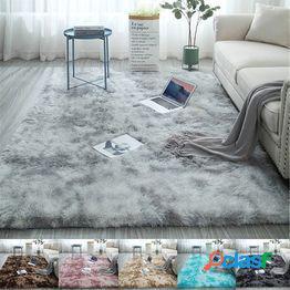 Alfombra suave tie-dye alfombra de piso área antideslizante esponjosa alfombra hogar decoración de la sala de estar