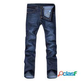 Hombres's casual otoño denim algodón hip hop trabajo suelto pantalones largos pantalones vaqueros pantalones