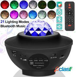 Usb led star night light music starry water wave led proyector luz bluetooth proyector proyector activado por sonido luz decoración