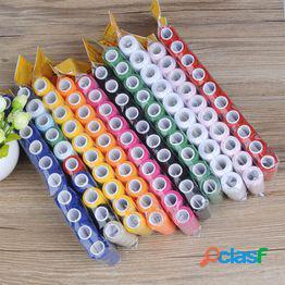 5pcs hilo de coser hilo de poliéster conjunto fuerte y duradero hilos de bordado para máquinas de coser
