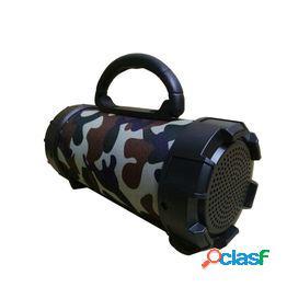 Altavoces inalámbricos f18 subwoofer portátil super b estéreo sonido barril altavoz reproductor de música soporte tarjeta tf (negro)