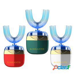 Hot wireless 360°deep brushing oral dientes para blanquear en forma de u cepillo de dientes eléctrico de carga cepillo de dientes de frecuencia variable