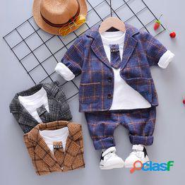 Traje de primavera para niños 2020 nuevo traje de bebé extranjero para niños traje de tres piezas niños pequeños guapo coreano marea de primavera y otoño