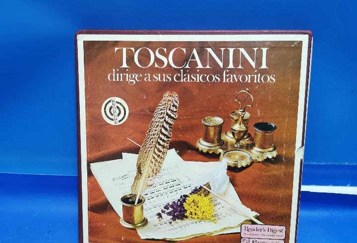 Pack box 5 discos vinilos toscanini - dirige a sus clásicos