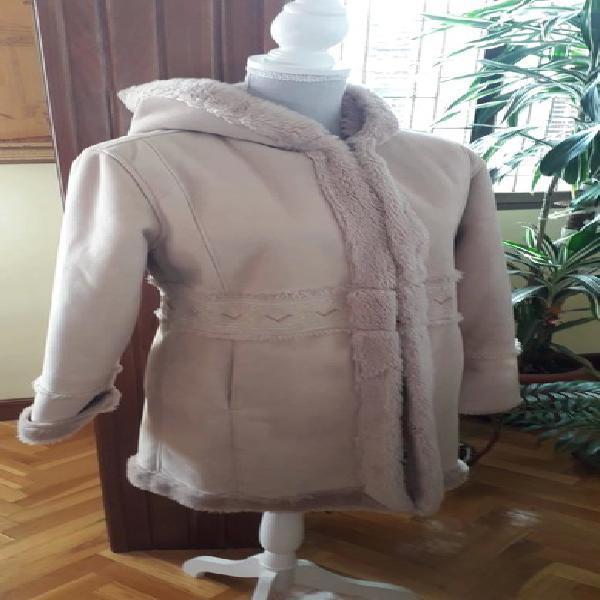 Abrigo piel vuelta brotes talla 14