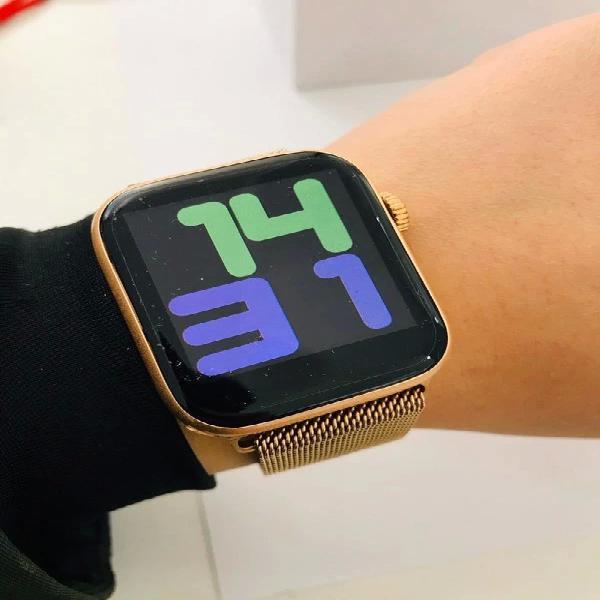 Smartwatch acero inoxidable oro rosa