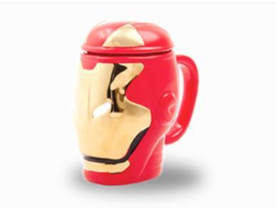 Taza 3d ironman / colección universo marvel - jarra 3d /