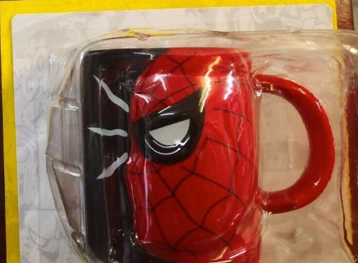 Taza 3d spiderman / colección universo marvel - jarra 3d /