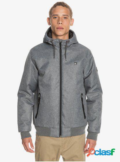 Quiksilver - brooks 5k - chaqueta impermeable con capucha para hombre - negro - quiksilver