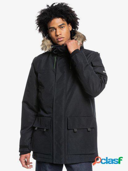 Quiksilver - ferris - chaqueta impermeable con capucha para hombre - negro - quiksilver