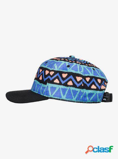Quiksilver - heritage - gorra con correa posterior ajustable para hombre - azul - quiksilver