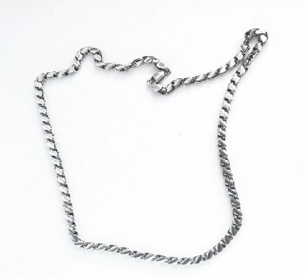 Preciosa cadena plata de ley (925) peso 28 gramos 60 cm.