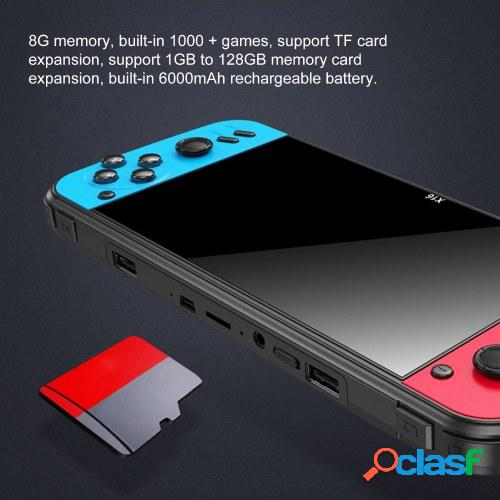 Multi-function retro game console handheld double joystick classic game controller 6.5 inch display 8gb memory built in 1000 games