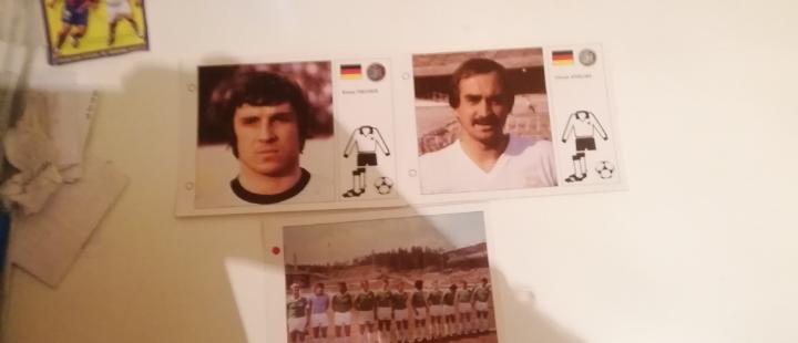 Fichas selección alemania. mundial 1982 españa
