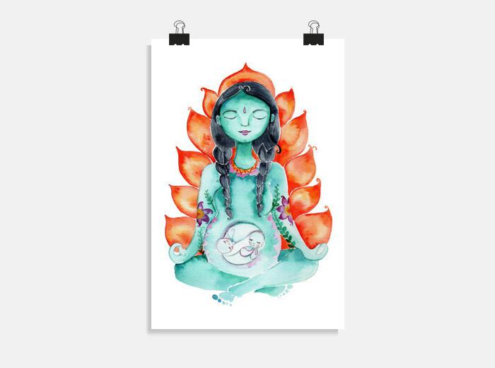Póster Mamá Kali, diosa de fuego