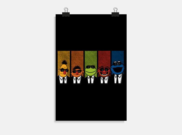 Póster Reservoir Muppets V2