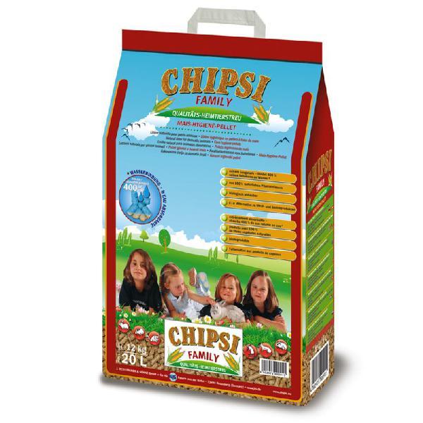 Chipsi family pellets higiénicos de maíz