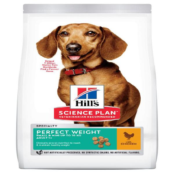 Hill's adult 1+ perfect weight small & mini science plan con