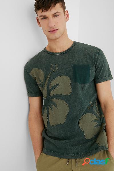 Camiseta básica algodón - green - l
